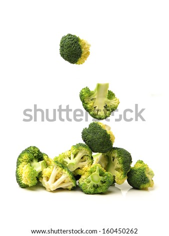 Broccoli vegetable isolated on a white background  - stock photo