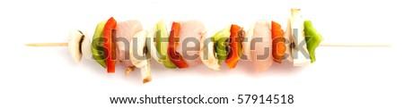 brochette isolated - stock photo