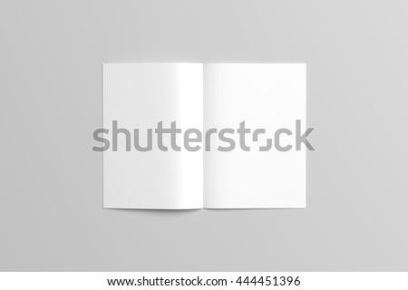 Brochure Mock-up / 3D Illustration - stock photo