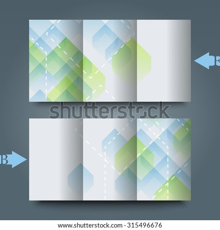 Brochure template with abstract background.