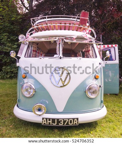 BRODIE, SCOTLAND - AUGUST 14: Volkswagen Camper Van on August 14, 2016 in Brodie, Scotland.