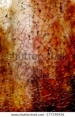 Broken and cracked glass background, grunge style - stock photo