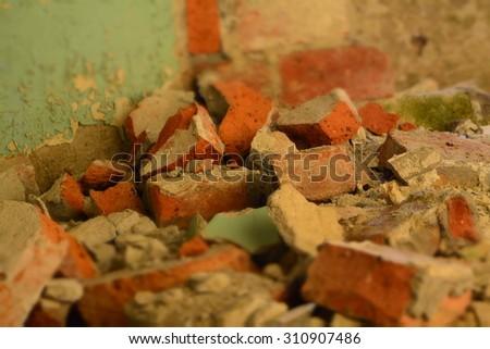 broken brick - stock photo