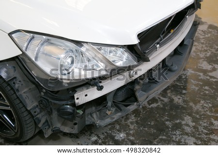 broken bumper car loss from the same position and get total loss damage.