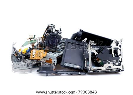 Broken camcorder - stock photo