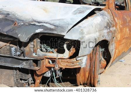 broken car - stock photo