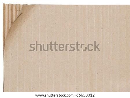 Broken cardboard sheet - stock photo