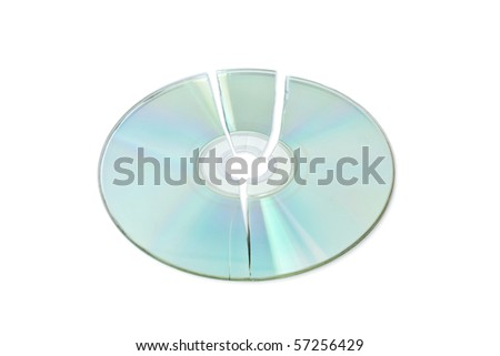 broken cd - stock photo
