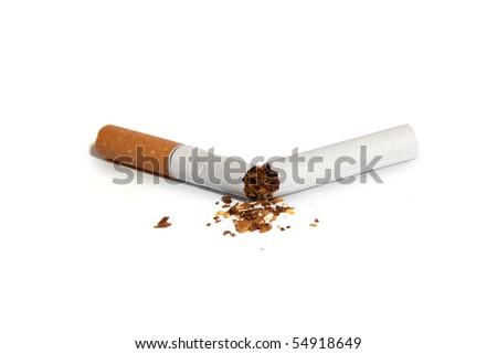 broken cigarette - stock photo