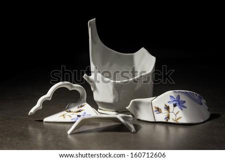 broken cup - stock photo