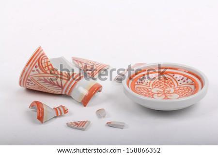 Broken dish - stock photo