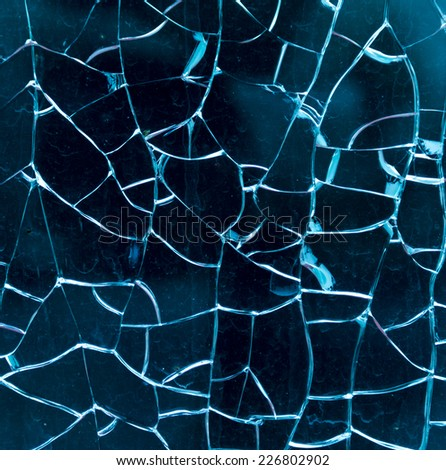 broken glass as a background - stock photo