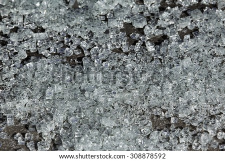 Broken glass background - stock photo