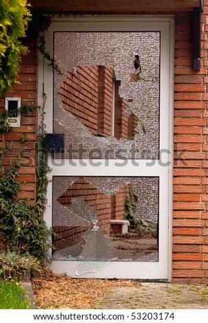 Broken glass door stock photo royalty free 53203174 shutterstock broken glass in the door planetlyrics Image collections