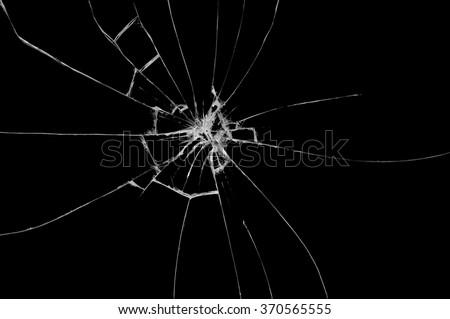 Broken Glass On Black Background Texture Stock Photo (Edit ...