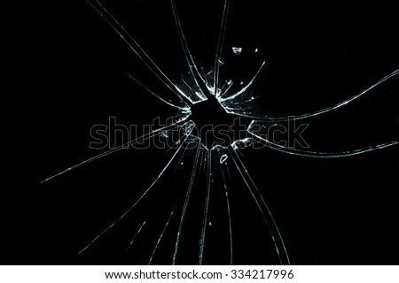 Broken glass texture. Isolated realistic cracked glass effect, concept element. - stock photo