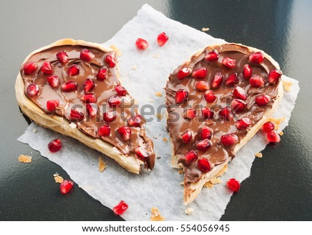 Broken Heart Concept Sweet Heart Shaped Stock Photo 554056945