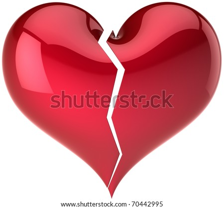 Broken heart stock images royalty free images vectors broken heart shape classic fall out of love abstract bored lover depression concept spiritdancerdesigns Images