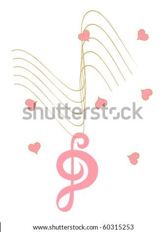 Broken Heart strings - stock photo