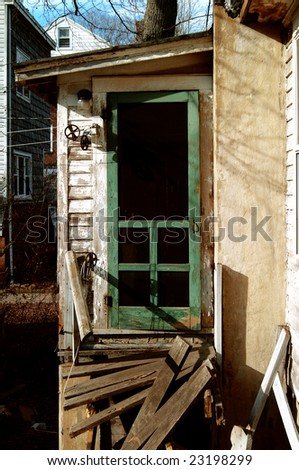Broken house needs repair - stock photo