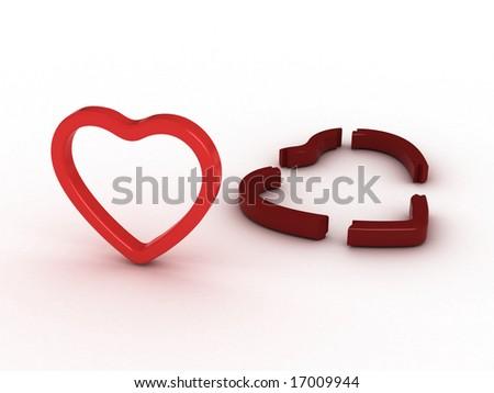 broken love - stock photo