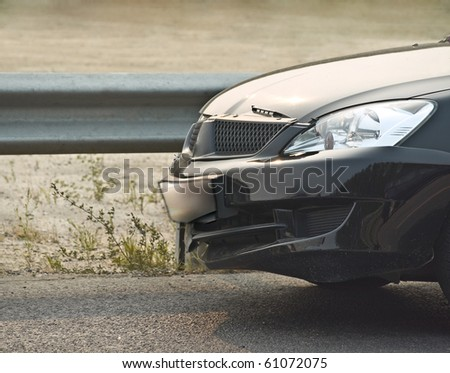 broken new car- 2 - stock photo