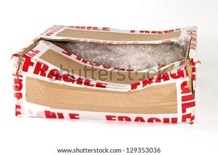 Broken Packaging - stock photo