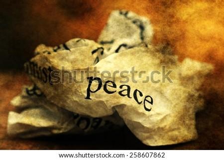 Broken peace - stock photo