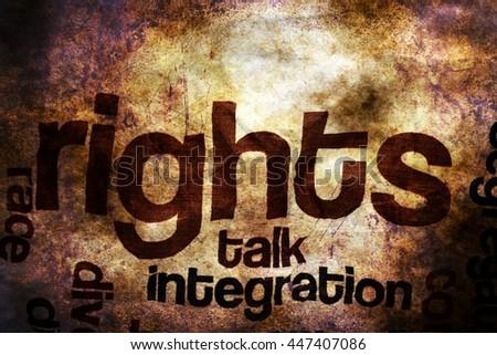 Broken rights to speak grunge concept - stock photo