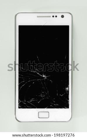 Broken smartphone - stock photo