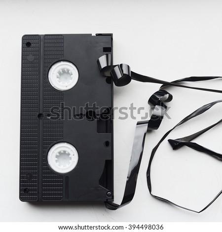 broken tape - stock photo