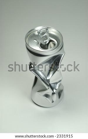 Broken tin. - stock photo