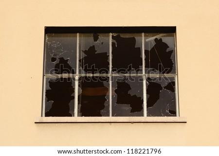 Broken windows - stock photo