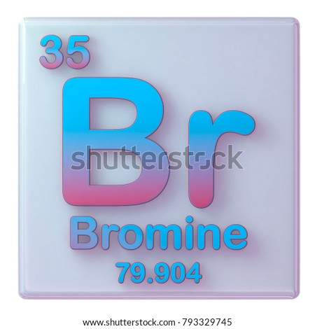 bromine chemical element number 35 of the periodic table 3d illustration - Bromine Periodic Table Atomic Number