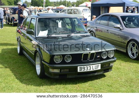 BROMLEY, LONDON/UK - JUNE 07 : BROMLEY PAGEANT of MOTORING. The biggest one-day classic car show in the world! June 07 2015 in Bromley, London, UK. - stock photo