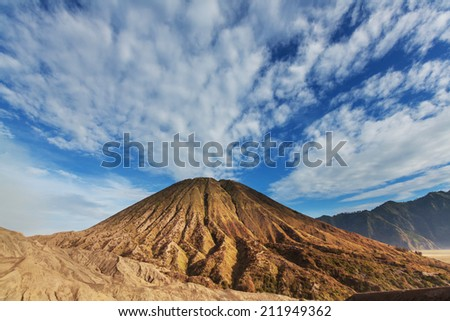 Bromo Volcano at  Java, Indonesia - stock photo