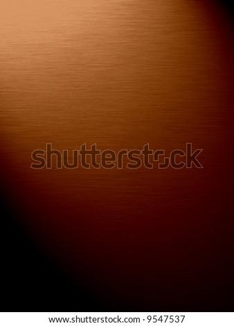 Bronze background in light (background, wallpaper, flyer...) - stock photo