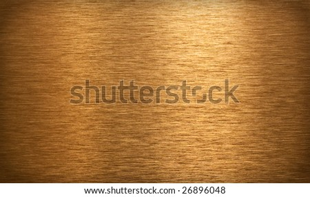 Bronze brushed plate or texture - stock photo