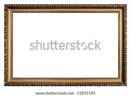 Bronze Empty Narrow Classic Fancy Frame Stock Photo Download Now