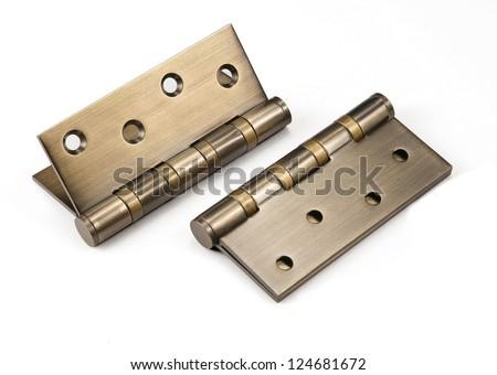 bronze hinge - stock photo