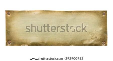 Bronze plate - stock photo