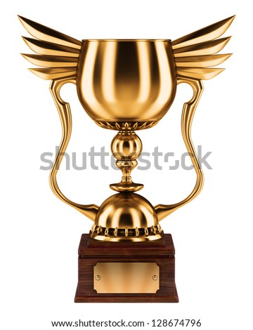 Bronze trophy cup - stock photo