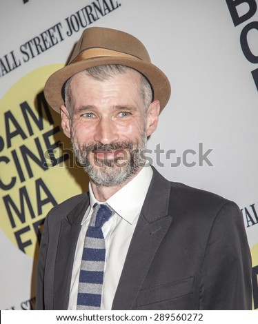 Brooklyn, NY, USA - June 21, 2015: Musician and actor Phil Mossman attends BAMcinemaFest 2015 'Cop Car' premiere at BAM Peter Jay Sharp Building, BAM Rose Cinema - stock photo