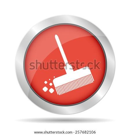 Broom icon  - stock photo