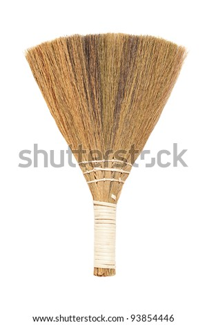 Broom. Isolated on white background - stock photo