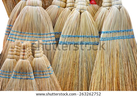 Brooms on the pile - stock photo