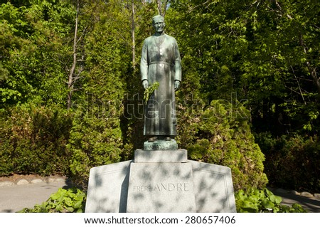 Brother Andre Statue at the St Joseph Oratory - Montreal - Canada