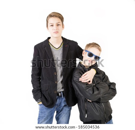 Brothers - stock photo