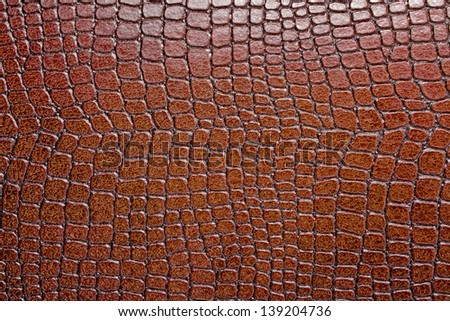 Brown alligator patterned background - stock photo