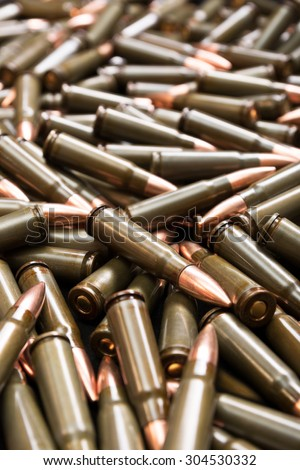 Brown ammo - stock photo